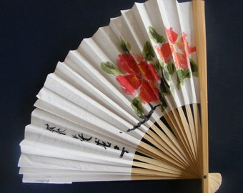 Japanese Flowers Fan