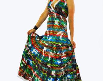 Summer cotton dress/Long dress/Cotton casual dress/Boho cotton summer dress/Summer day dress/Beach dress/Soft cotton dress/D1445