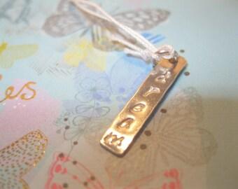DREAM..... Sterling Silver mini  tag pendant