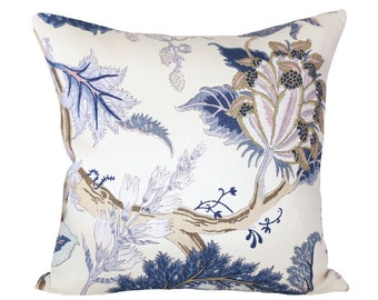 Indian Arbre Hyacinth designer pillow covers - Made to Order - Schumacher