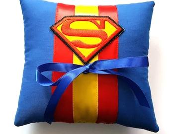 Superman Wedding Ring Pillow