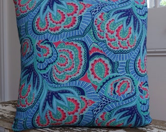 Amy Butler Hapi Oasis design Azure Cushion Cover/pillow 45cm