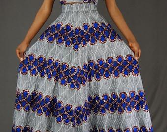 Africa Print Maxi Skirt, Maxi Skirt, High waist maxi skirt, African Print Outfit, Ankara skirt, long skirt,African clothing