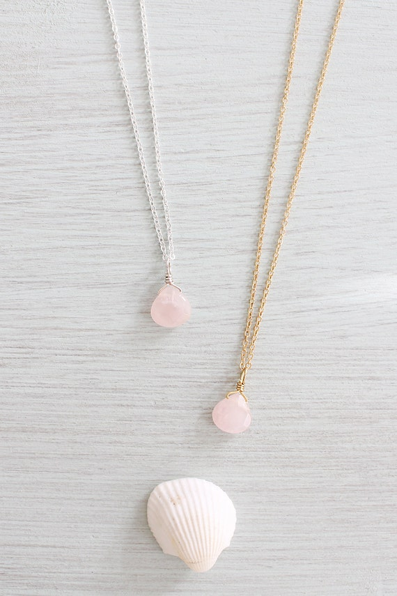 pendant platim rose jewelry quartz pink