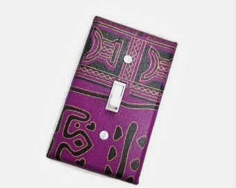 African Inspired Home Decor | Ethnic Wall Art | Purple Home Decor | African American home | Light Switch Covers | Tribal decor | suiteplat |