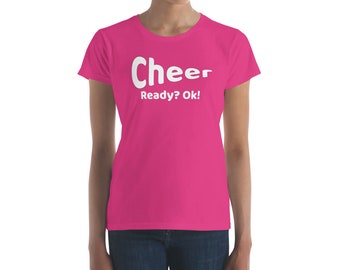 Cheer Ready? Ok! T Shirt Cheerleading Practice Coach Gift Shirt Graphic Tee For Cheerleader