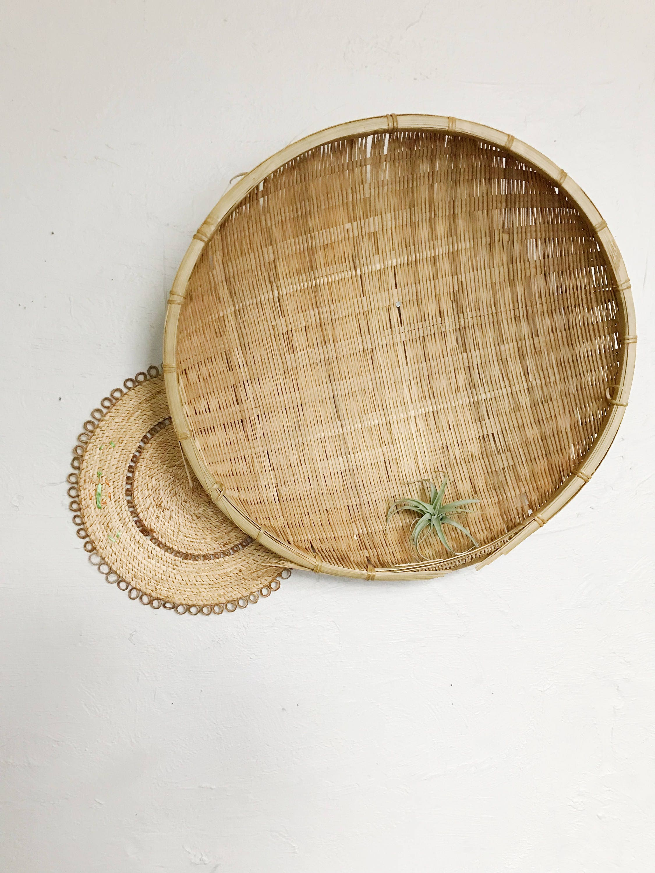 Unique Woven Basket Wall Decor Embellishment - The Wall Art ...