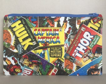 Marvel Comic Book Heros Zippered/Pencil Pouch