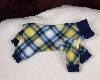 Lg- Plaid Fleece Dog Outfit- (Lg)