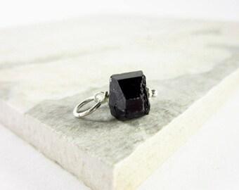 Natural Tourmaline Jewelry - Black Tourmaline Nugget Gemstone - Raw Stone Pendant - Natural Stone Jewelry - Healing Crystals and Stones
