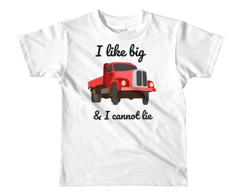 I like big trucks - Short sleeve kids t-shirt