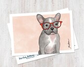 Cute French Bulldog Illus...