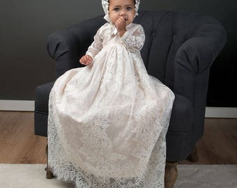 Victoria Christening Gown, Baby Girl Christening & Baptism Gowns, Lace Christening Gowns