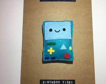 Beemo Magnet Card, BMO, Beemo, Adventure time, jake the dog, finn, finn the human, lumpy space princess, princess bubblegum