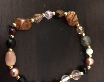 Fashion Women's Handcrafted Mixed Glass Bead Bracelet