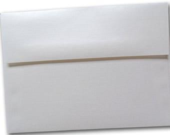 Classic Linen WHITE PEARL A-1 RSVP Envelopes - 25 pk