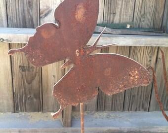 Metal Butterfly Yard Stake - Garden Decor - Yard decoration