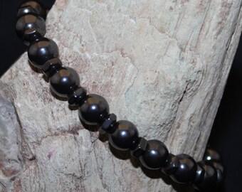 Hematite Single Strand Stretch Bracelet B2