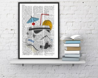 STORMTROOPER Cocktail Print,Unique Funny Gift Idea, STAR WARS Poster,Gift from Bride, Dad Gift, New Job Gift TYQ048