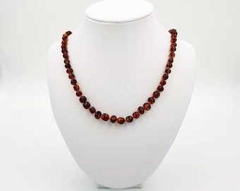 Toffee Amber Necklace for children, teens & adults