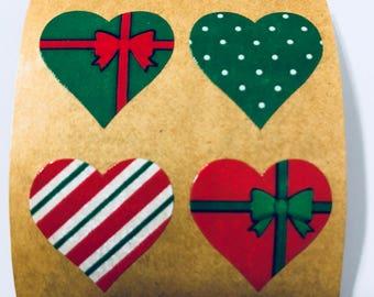 Vintage Sandylion Holiday Heart Stickers