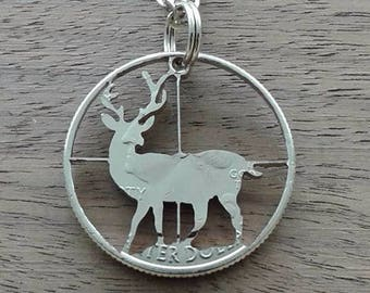Coin jewelry, Quarter dollar USA-in the sights