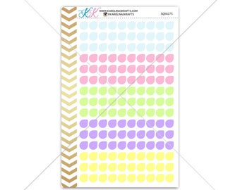 Teardrop Stickers for planner, calendar! Functional planner stickers colorful sticker functional sticker pastel sticker #SQ00275