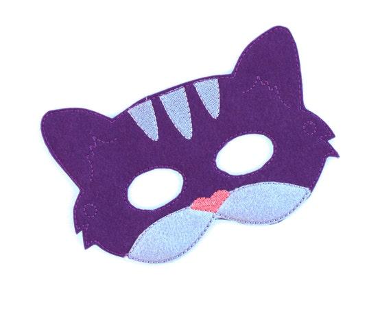 Kids Cat Mask Purple Cat Costume Felt Mask Kids Face Mask