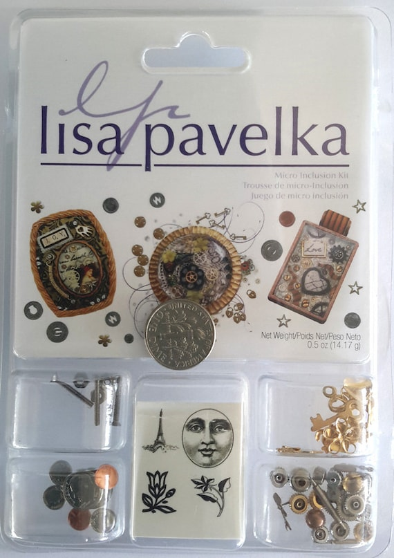 Micro Inclusion Kit, includes a variety micro embellishments, tiny tats for your polymer clay, resin or multi media art work