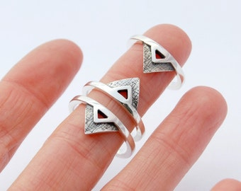 Triangle ring sterling silver minimalist ring