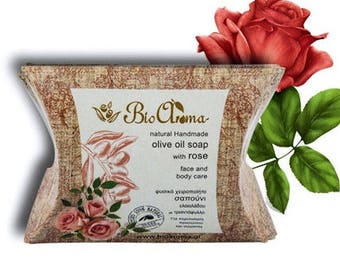 Olive oil soap for face and body 90gr / 100% Natural handmade in Crete