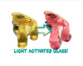 Serum Pink to Yellow CFL Reactive Brim Drip Hat Pin™