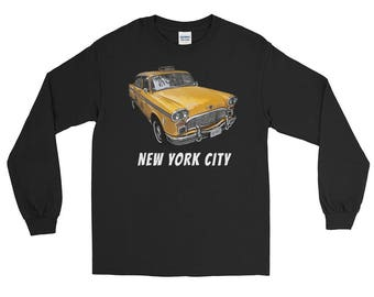 New York City Classic Checker Taxi Cab Long Sleeve T-Shirt