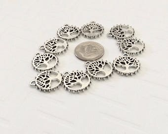 20 -  Tree of Life pendants or charms, family charms, tree pendants, 2 sided charms, wholesale price