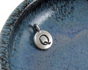 "NEW TierraCast Silver Letter ""Q"" Disk Charm *YOU Collection*"