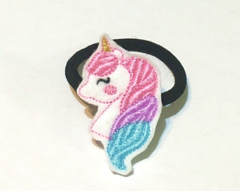 Pastel Unicorn Ponyholder