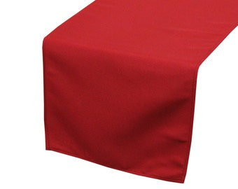 Quick View. YCC Linen   Dark Red Polyester Table Runner ...
