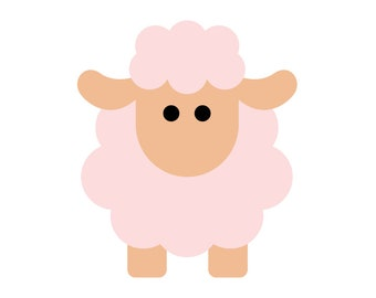 Sheep Applique, Quilting, Sewing, Kids Craft PDF Pattern
