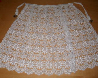 Vintage lacy hostess half apron