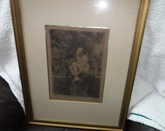 Dagmar Andres Zorn etching Vincent price art collection