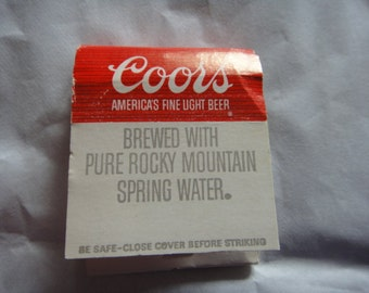 Vintage COORS Beer Match Book Matches