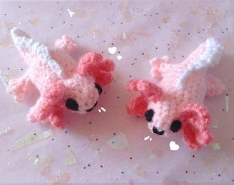 Kai- Crochet Mini Axolotl Plush