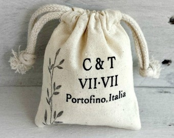Custom Wedding Favor Sachet Bag | Custom Party Favors | Custom Favor Bags | Wedding Favors | Screen Printed Bags | Personalized Party Favors