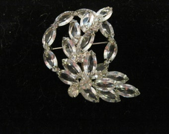 JULIANA De Lizza & Elster STYLE Clear Rhinestone Flower Brooch REDUCED