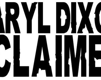 Daryl Dixon #CLAIMED SVG File