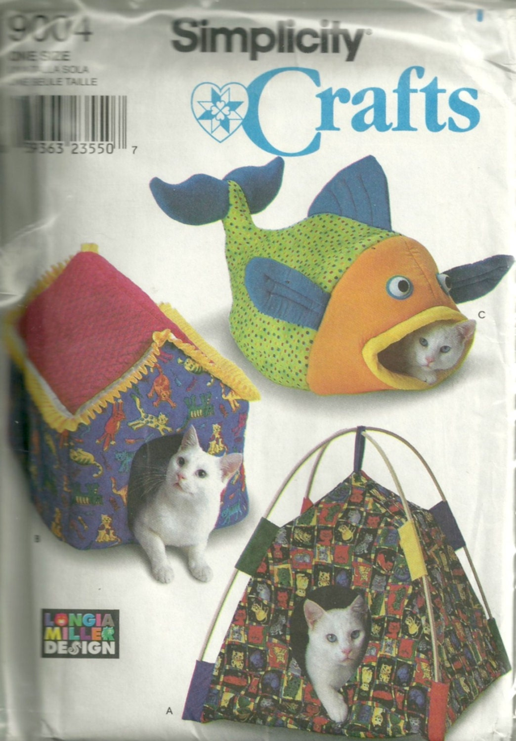 Simplicity 9004 cat bed sewing pattern 3 designs tent bed simplicity 9004 cat bed sewing pattern 3 designs tent bed house bed and fish bed animal sewing pattern uncut longia miller jeuxipadfo Image collections