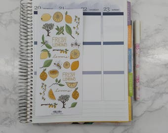 Fresh Lemons Stickers, Fresh, All Planners, Stickers
