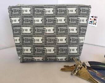 Medium zip pouch | makeup bag | purse organiser