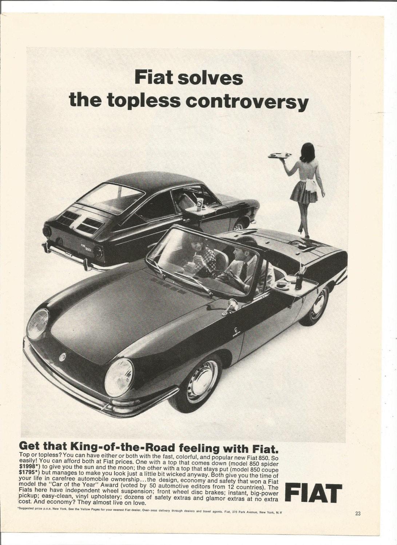 Advertisement Fiat Convertible Spider Coupe Topless - Nearest fiat dealer