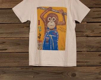 Baby Orangutan Kids T Shirt 'Messy Maggie'